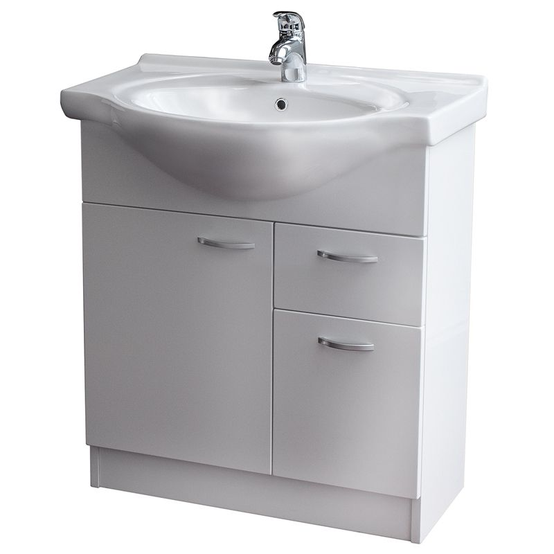 Conciso Naro Vanity Assembled Mm White Bathroom Renovations - Bathroom renovators warehouse