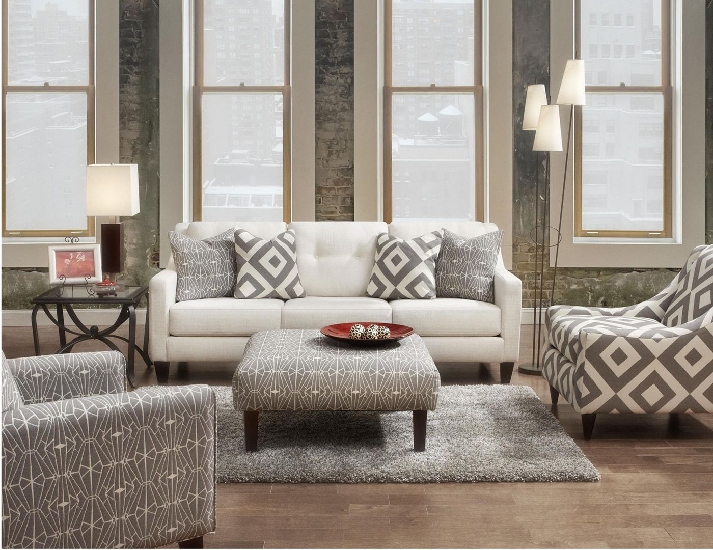 Furniture upholstery group bay city saginaw - Fusion Furniture Emblem Contemporary Sofa With Track Arms
