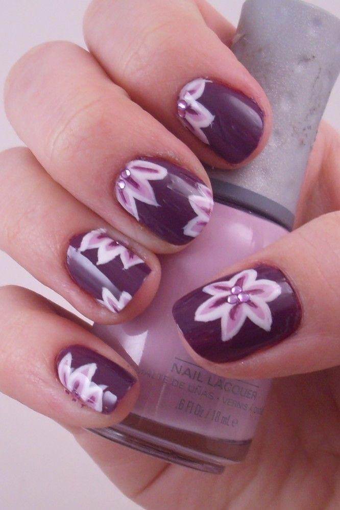 Purple Nail Art | Nail art | Pinterest | Diseños artísticos en uñas ...