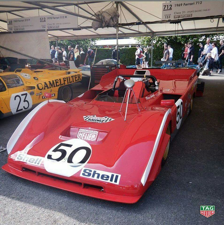 Ferrari 712, race car  year 1969 in goodwood festival of speed.