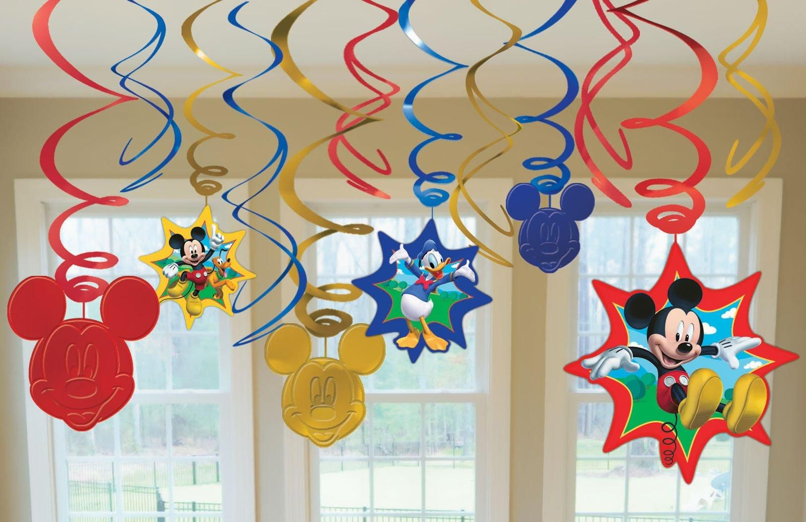 Disney Mickey Mouse Hanging Swirl Value Pack from BirthdayExpress.com