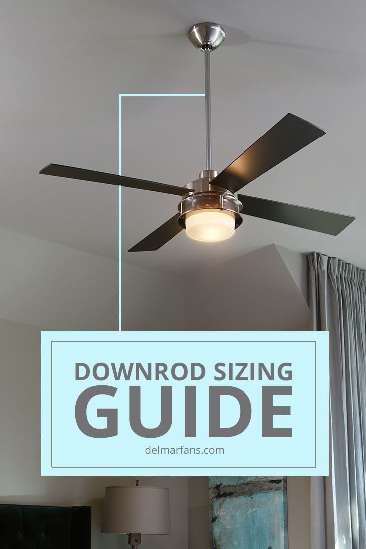 What Size Downrod Do You Need Ceiling Fan With Remote Ceiling Fan Ceiling Lights