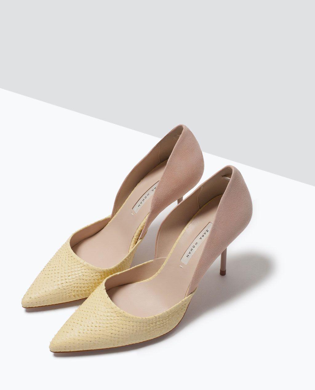 Zara Bags Leather amp; Asymmetric Combined Shoes Court ET6Eqwxra