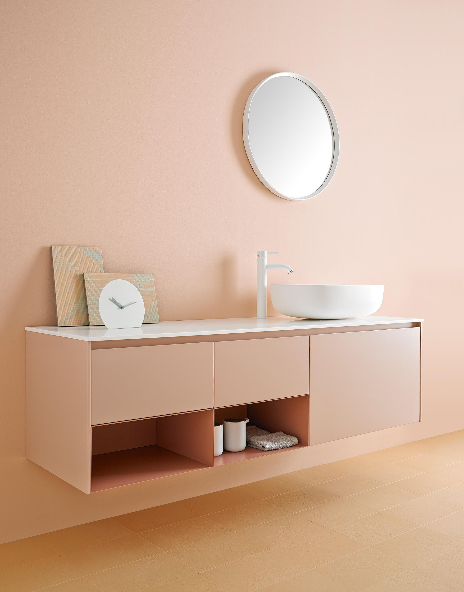 Badezimmermöbel Pink Strato Bathroom Furniture Set 06 Designer