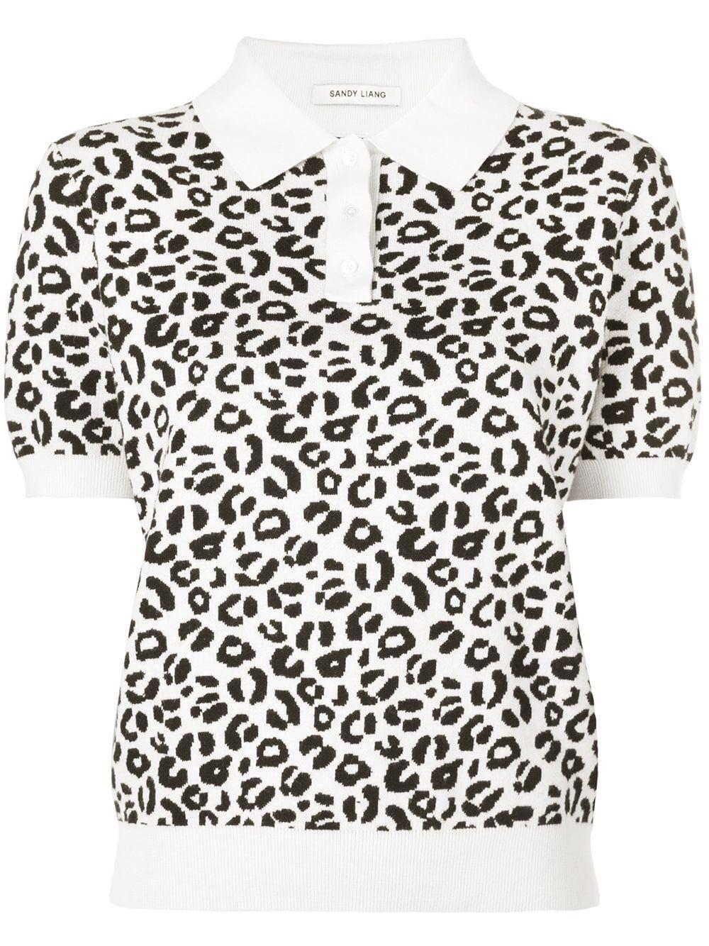 cashmere Sandy Liang Leopard Print Polo Shirt – Farfetch Cashmere Shirt