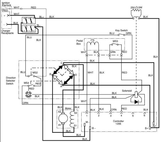 b10e5ad2bfb67906c94ac4a56447bd31 basic ezgo electric golf cart wiring and manuals cart Basic Electrical Wiring Diagrams at crackthecode.co