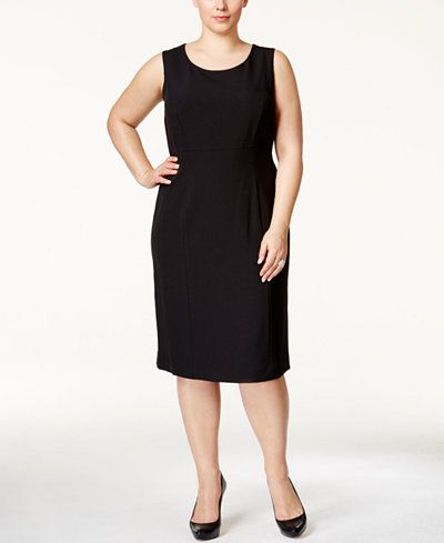0c7fb38213400 Kasper Plus Size Crepe Sheath Dress