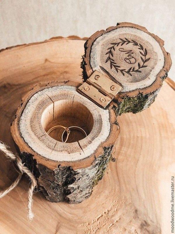 Top 10 rustikale Eheringkissen aus Holz, die Sie lieben werden – Holzdesign – T …