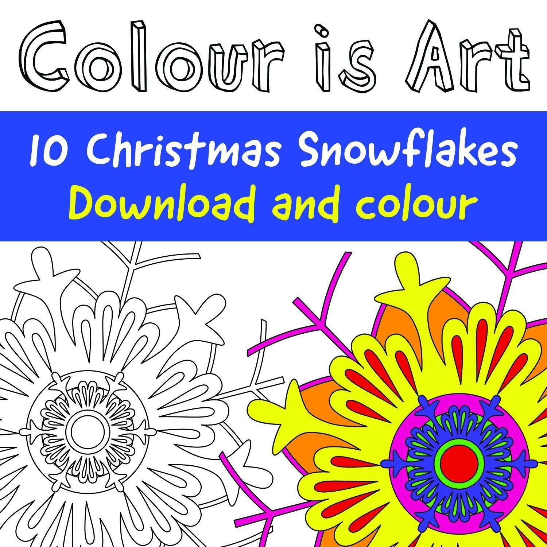 10 Christmas Snowflakes Designs Download Print Amp Colour