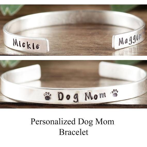 Personalized Dog Mom Bracelet, Pet Name Bracelet, Pet
