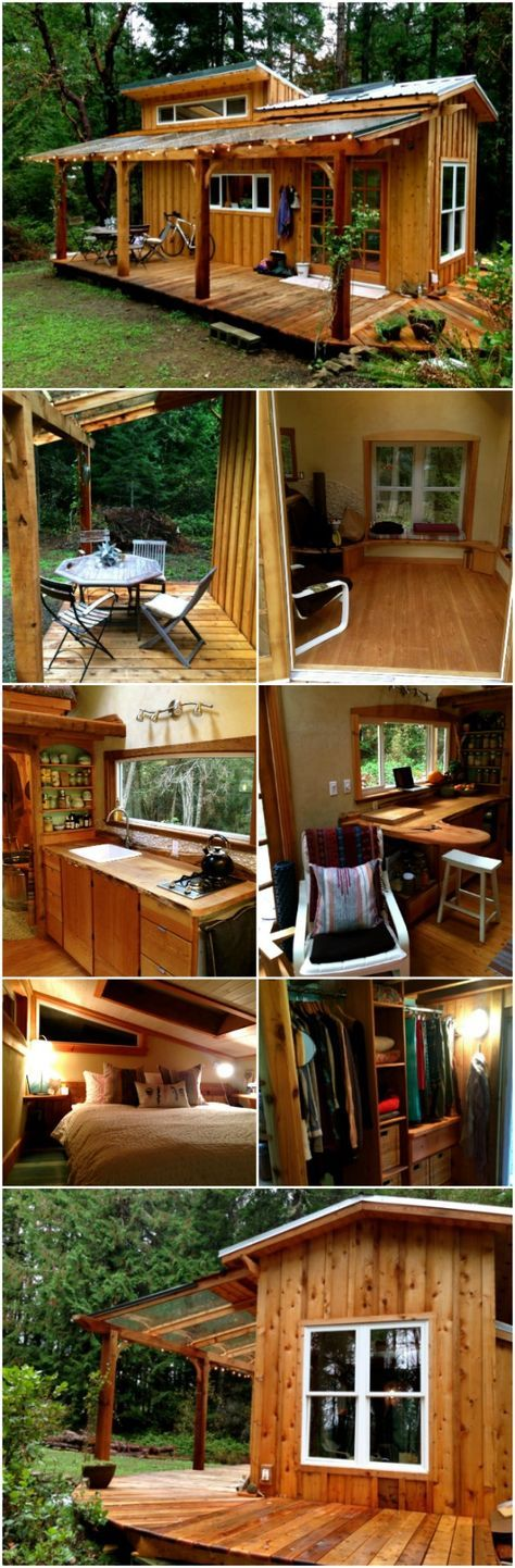 Tiny House Tour Perfectly Rustic Tiny Mountain Log Cabin In