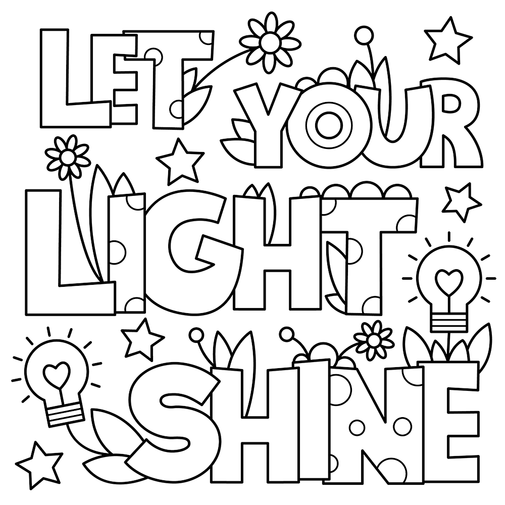 Let Your Light Shine Sunday School Coloring Pages Jesus