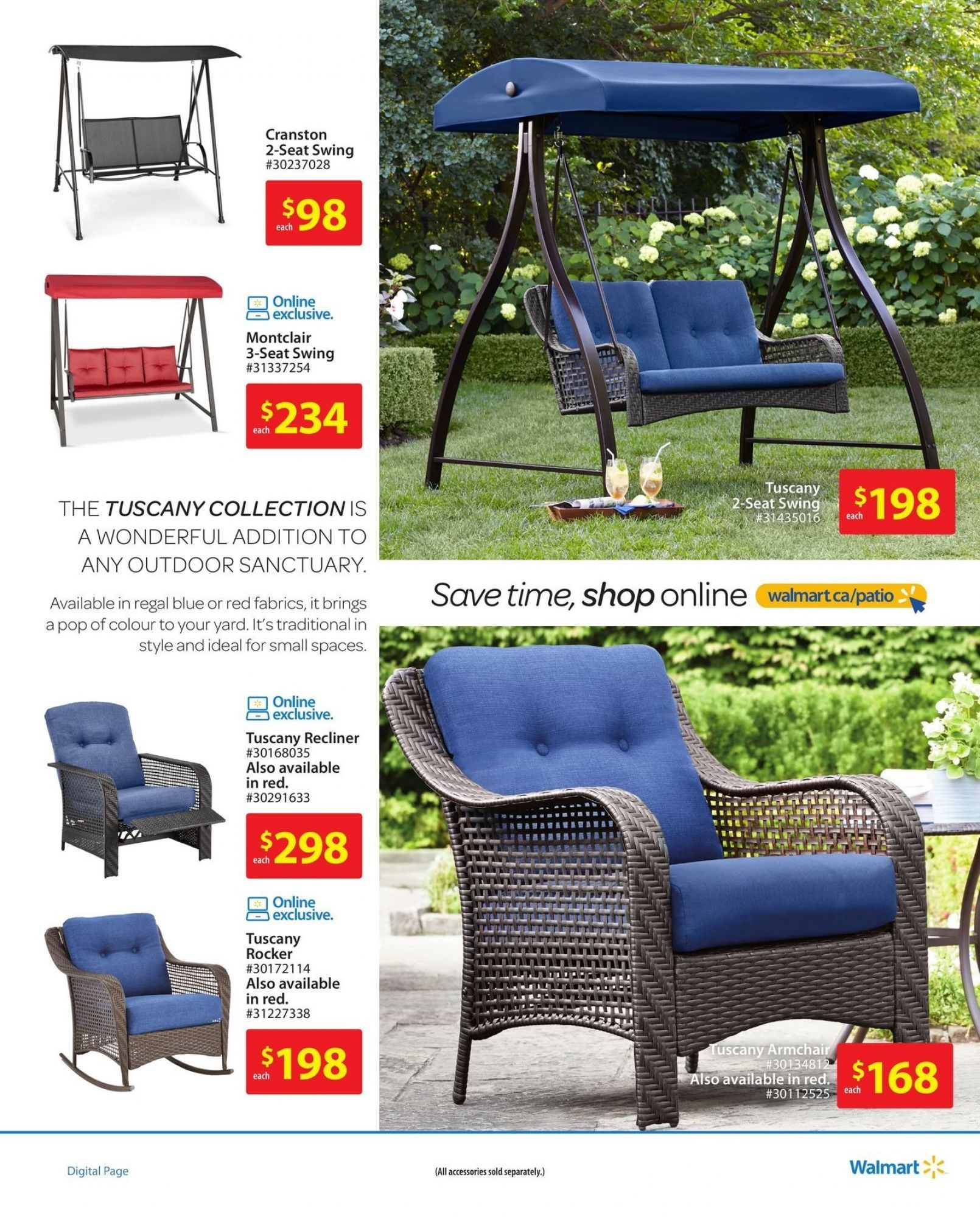 Flyer Walmart Patio Book On Canada From Thursday April 19 2018 To Wednesday June 20 2018 Flyer Walmart Outdoor Decor