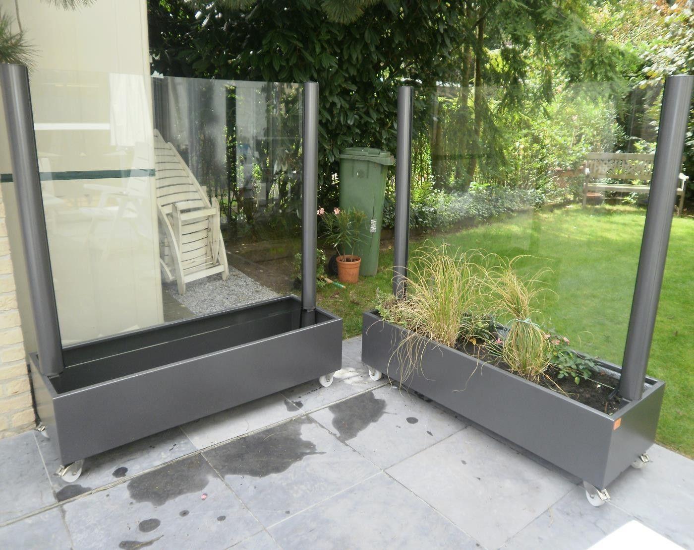 Plexiglas Windscherm Tuin : Mobiel windscherm flower line terras afscheiding glas