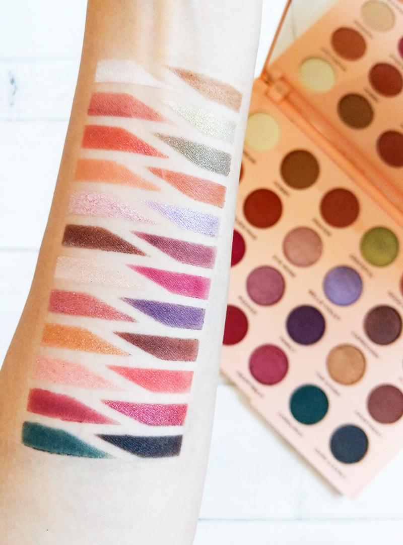 makeup revolution emily edit swatches