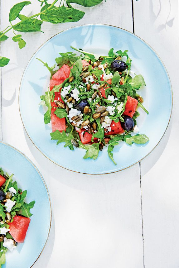 The Pool   Food and home - Watermelon and feta salad