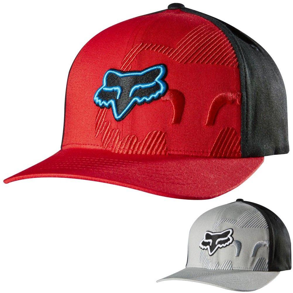 d77f9d1921d89 Fox Racing Mens Sidebar Casual Fitted Cap MX Motocross Moto Hat ...