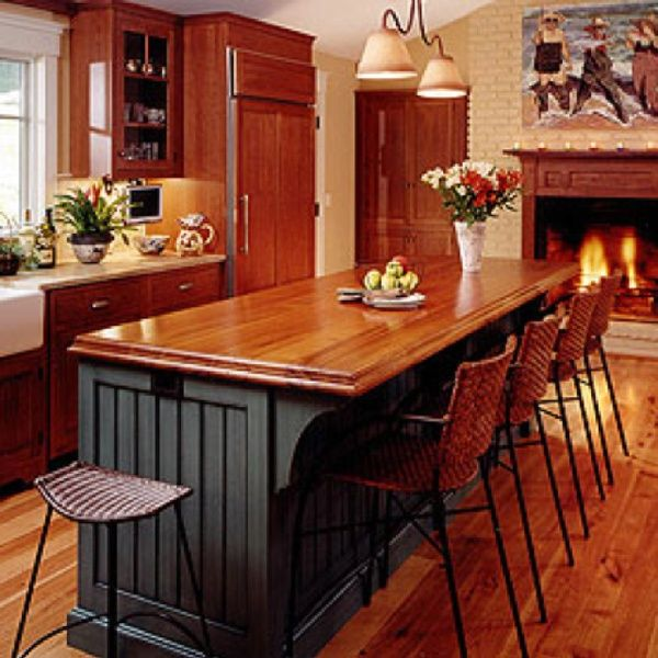 Connected To The Kitchen Dining Rooms And Eating Area Designs: Fireplace In The Kitchen. So Warm And Cozy