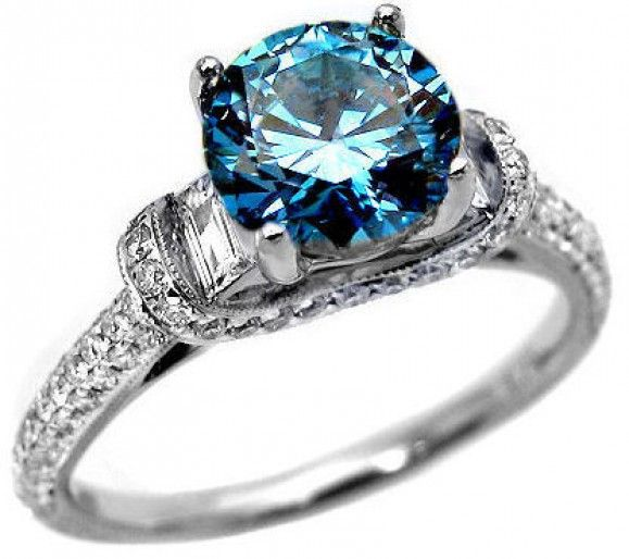 Blue Diamond Engagement Ring Blue Diamonds Engagement Blue Diamond Engagement Ring Diamond Wedding Rings Women