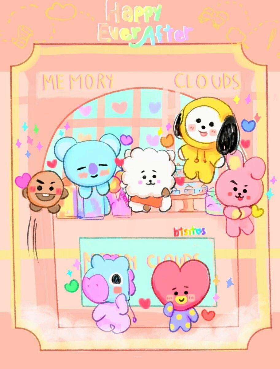 Cute Animated Wallpapers Hd 방탄소년단 Bt21 Bt21 Wallpapers Pinterest Bts Fanart