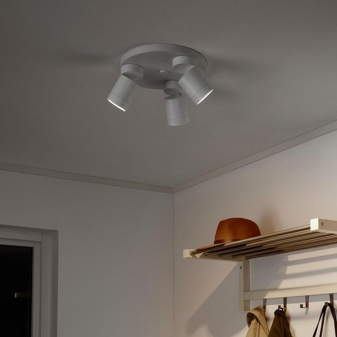 NYMÅNE Ceiling spotlight with 3 lights, white IKEA i 2020