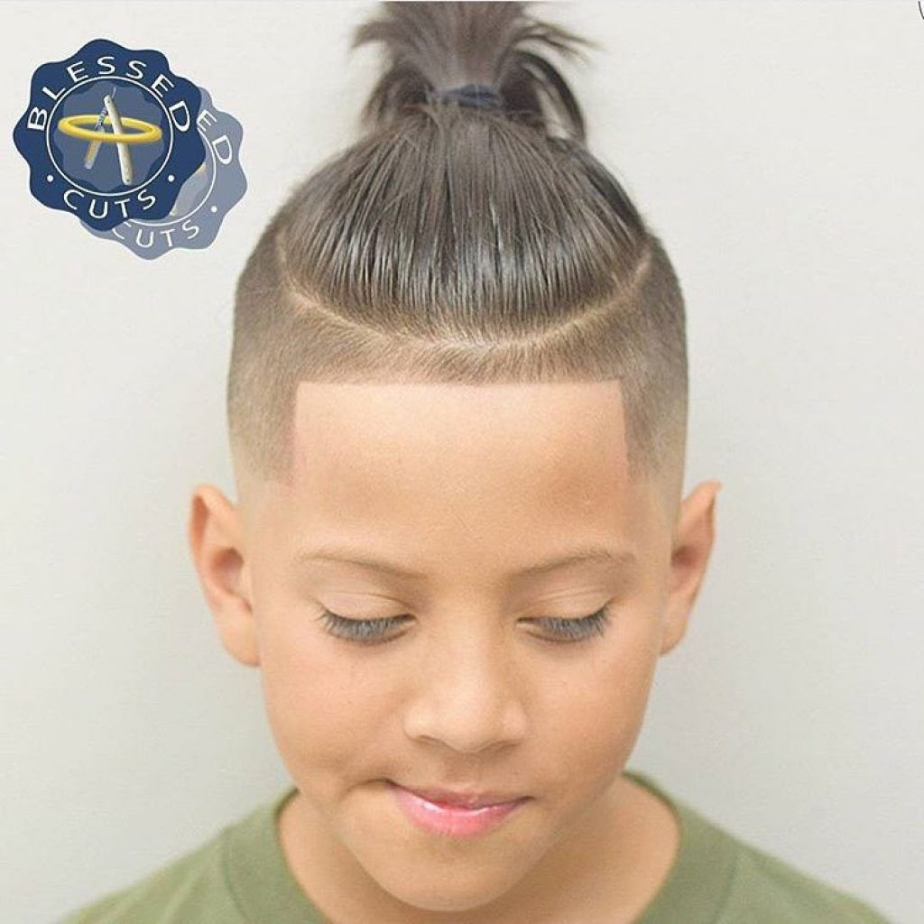 Boy Long Undercuts With Lineup Haircut Braid Hairstyles for Kids