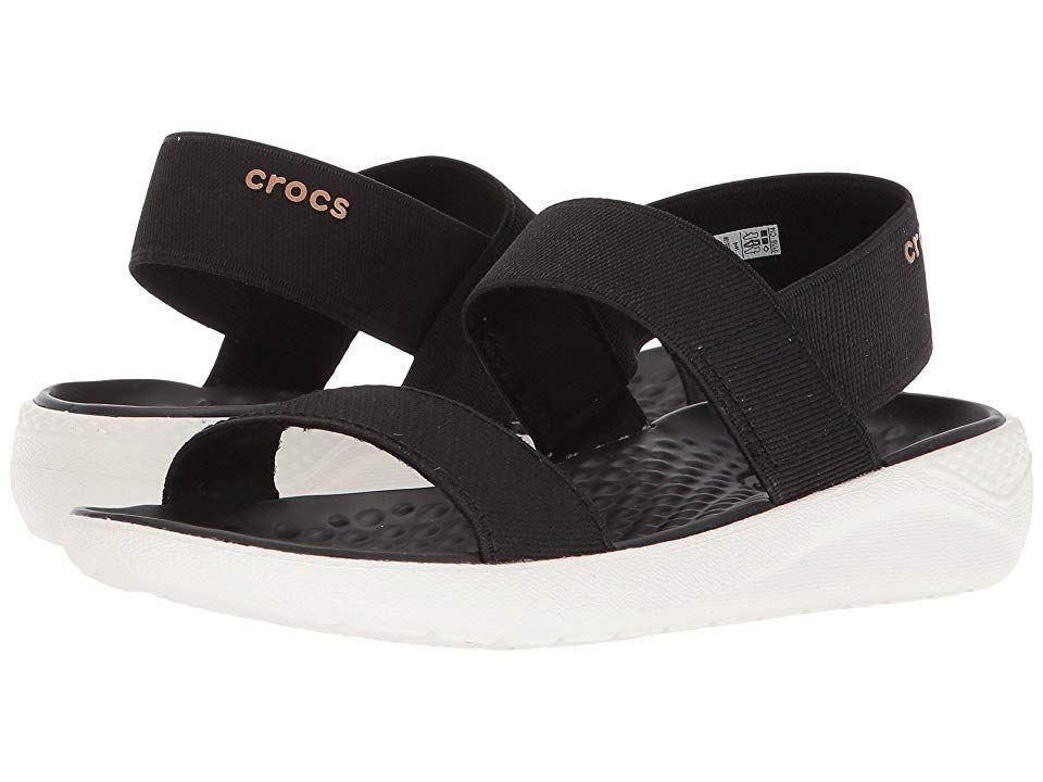 Crocs Literide Sandal Women S Shoes Black White White Shoes Women Black And White Sandals Women S Crocs