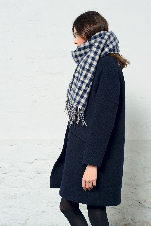 Manteau philomene marine - coat - des petits hauts 3