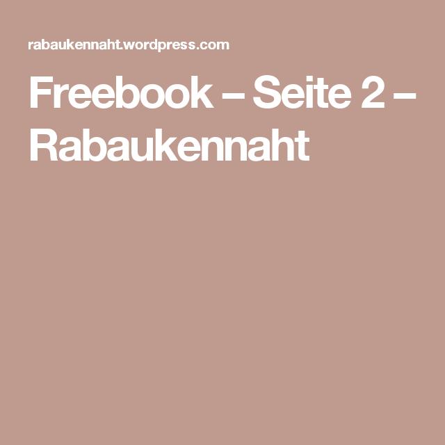 Freebook – Seite 2 – Rabaukennaht