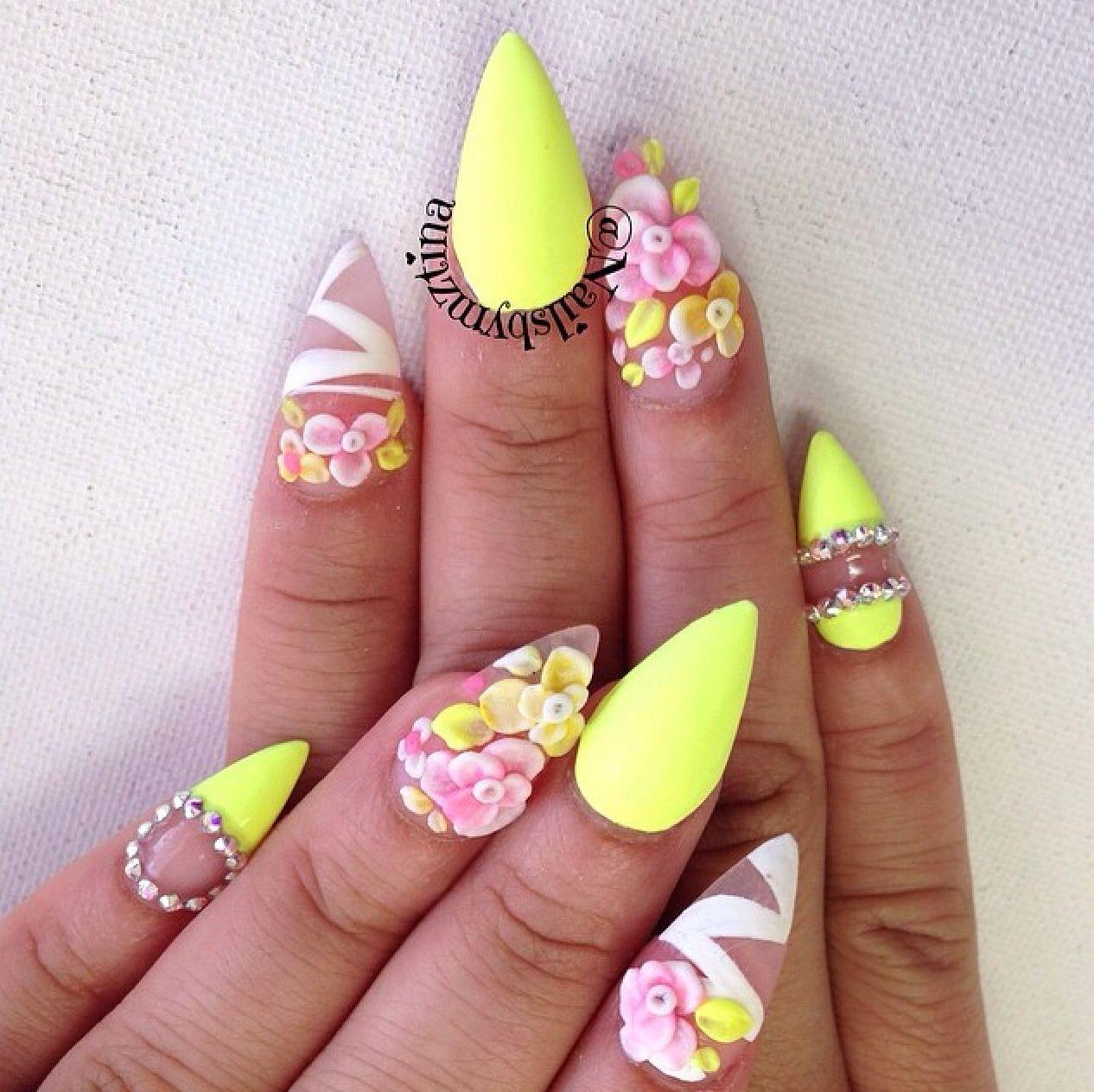 Spring gel nails from instagram | Gel nails | Pinterest | Nail nail ...