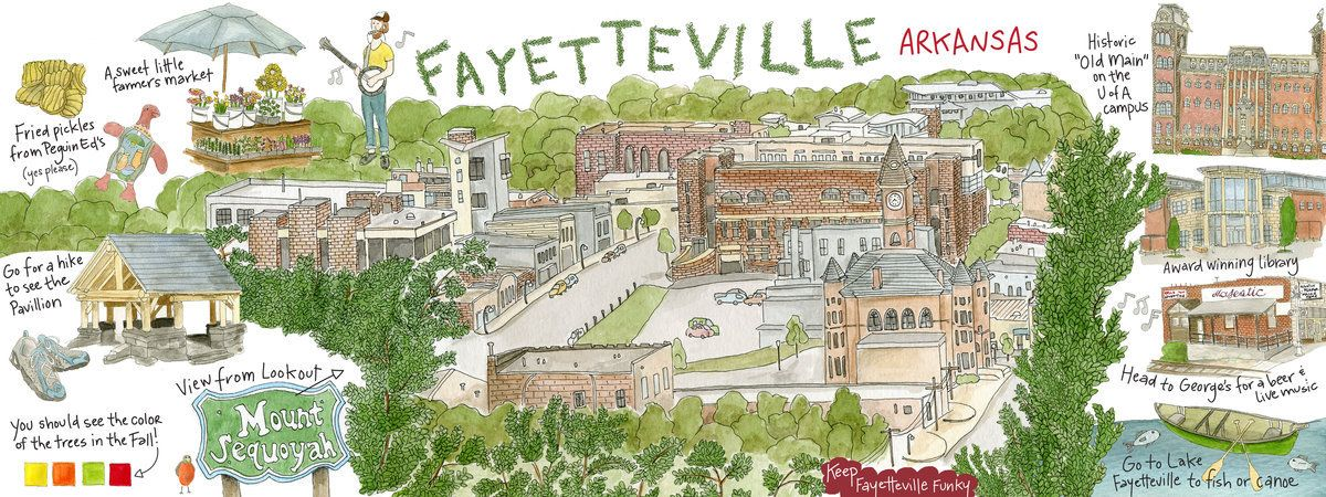 Fayetteville, Arkansas by Kristin G. Jackson – They Draw & Travel ...