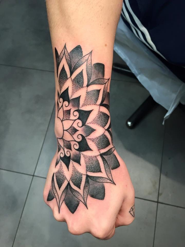 Wrist and hand flower tattoo  Tattoos ON Men