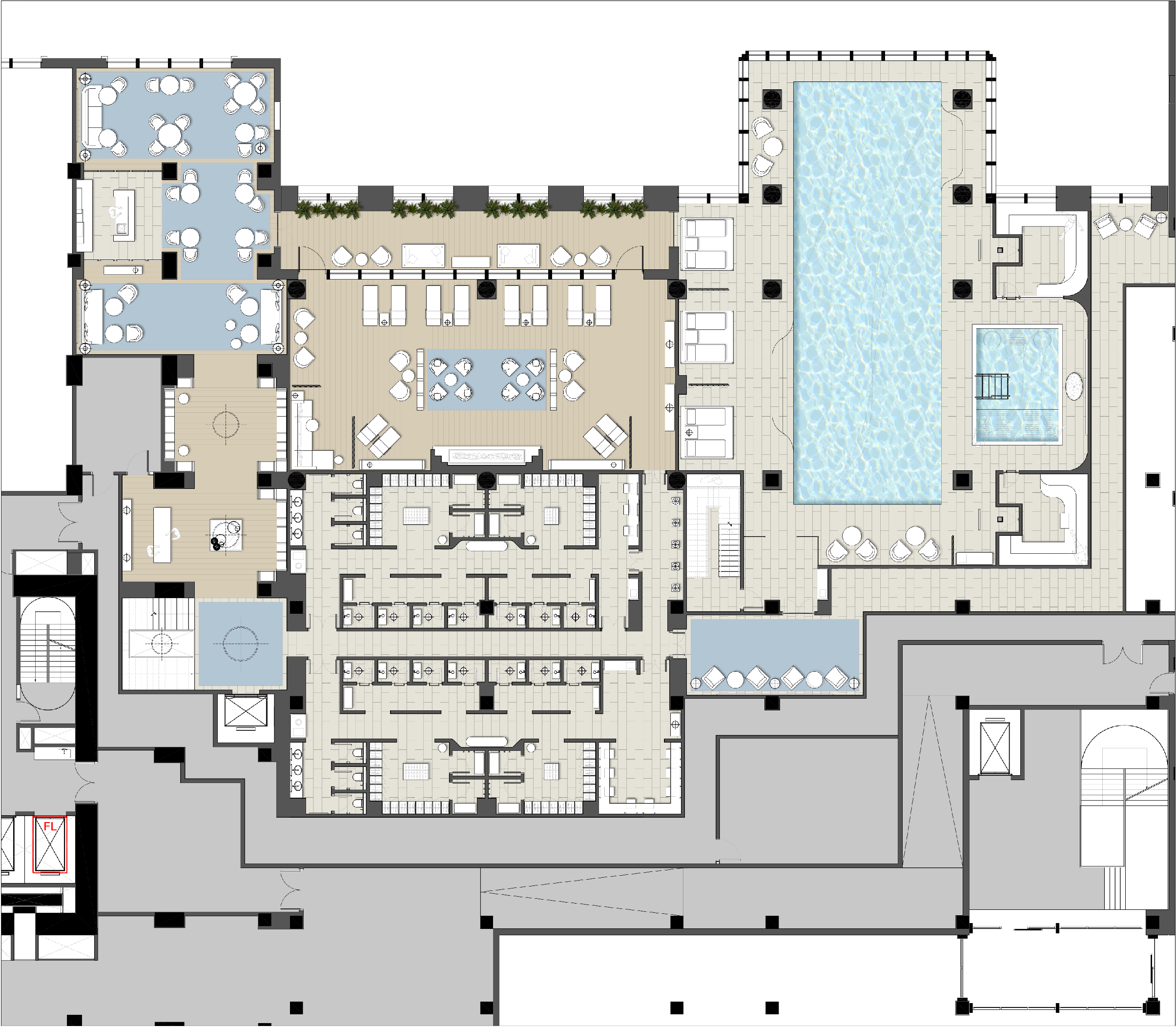 Architectural Designer At Ga Design International Hotel Plan Building Layout Office Floor Plan
