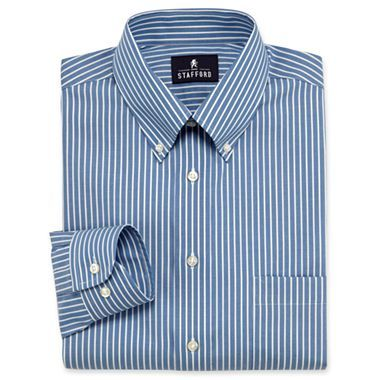 Stafford Performance Pinpoint Oxford Dress Shirt With Button Down Collar Jcpenney Shirts Shirt Dress Oxford Dress