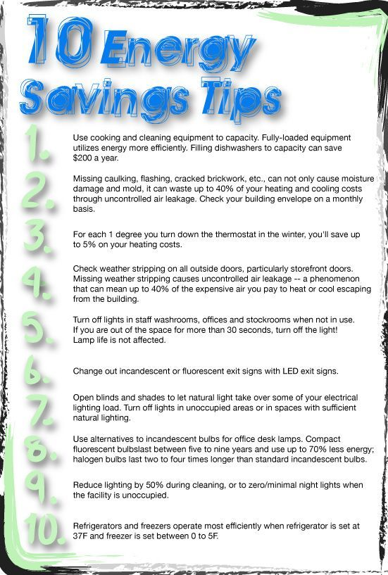 10 energy savings tips infographic energysaving tips for Ways you can save energy