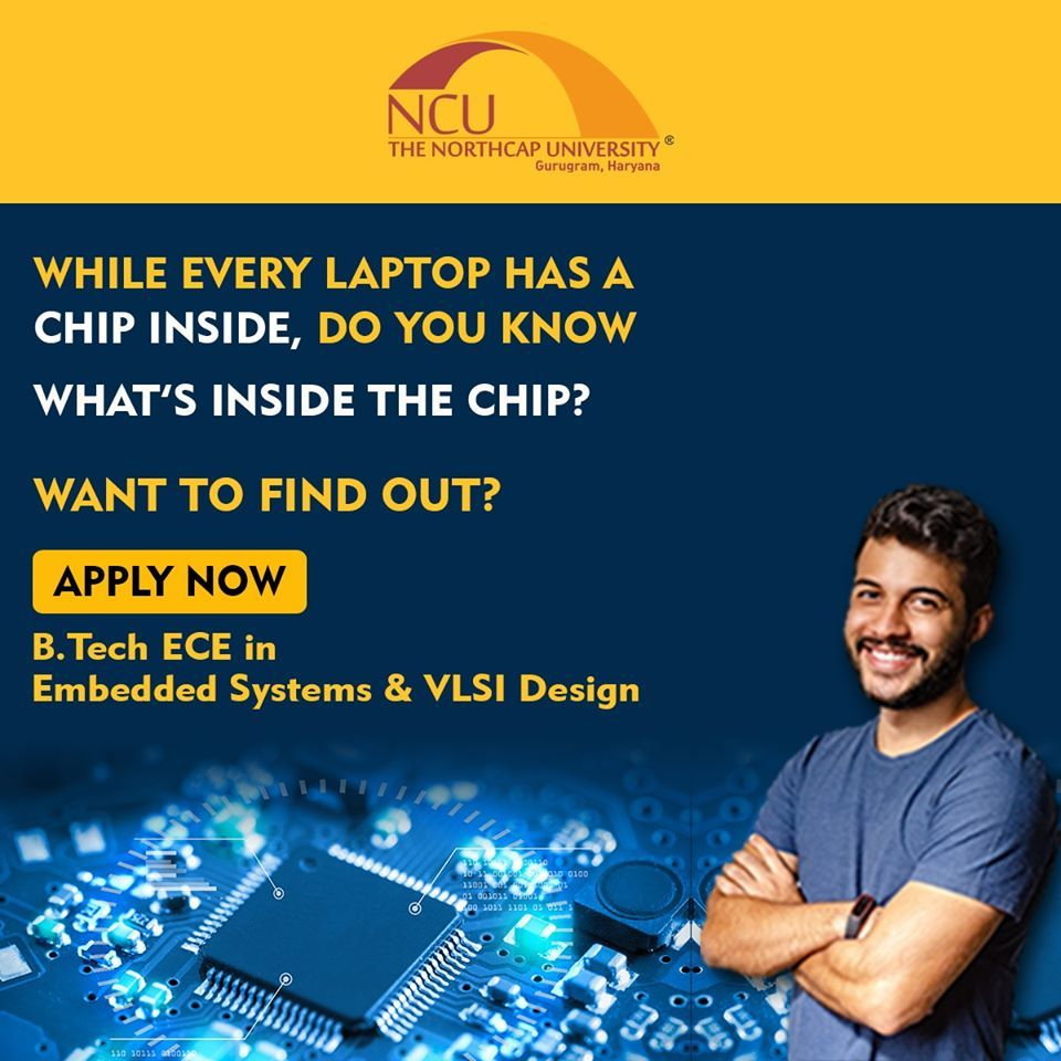 Admissions Open For Btech Ece In Embedded Systems Vlsi Design In 2020 How To Find Out Best University System