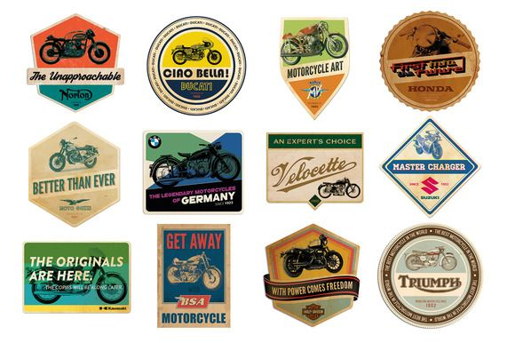 Check out retro motorcycle badges by justliviu on Creative Market
