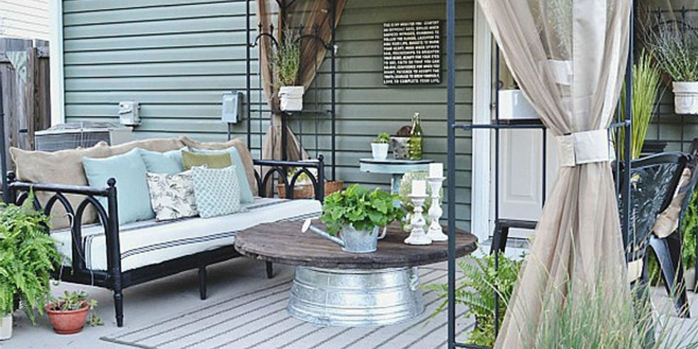 Before After A Thrifted Budget Friendly Patio Makeover Patio Decorating Ideas On A Budget Patio Design Diy Patio