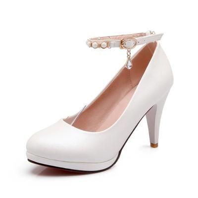 Sexy Escarpin Chaussures Soirée-Mariage Femme / Matière:pu  Taille:34/35/36/37/38/39 Couleur:Blanc/Rouge/Doré/Champagn/Argent  Caractéristique:Paille…