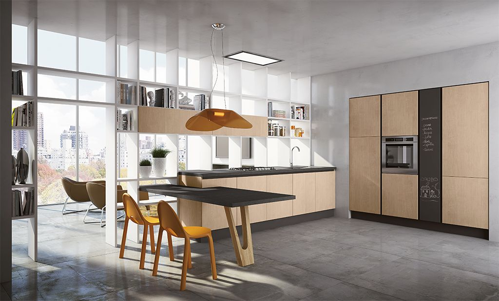 Contemporary laminate \/ granite kitchen - BARRIQUE by Rodolfo - ernestomeda barrique