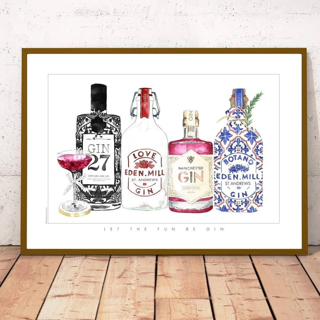 Get your favourite Gin print for Fathers Day . . Swipe to see more . . . . Free worldwide shipping Watercolour prints . . . . #watercolourillustration #fathersday #ginandtonics #ginprints #ginart #ginlover #gin #homedecor #mensroom #ginquote #gincocktail #ginart #watercolourart #watercolourprints #artistofig #laminasdecorativas #hotelart #gallerywall #homedecor #aquarelle #marbellaillustrator #surfacedesigner #cocktails #