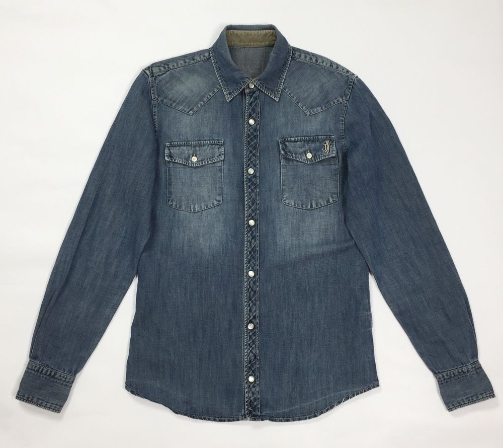 best cheap fc7dd a560e Jeckerson camicia jeans uomo usato S uomo casual lunga blu ...
