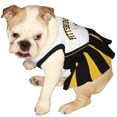 Pittsburgh Steelers Black Gold Pet Cheerleader Dress Dog Cheerleader Pets First Cheerleading Outfits