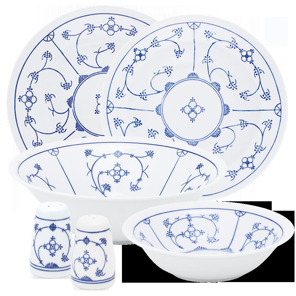 tradition dinner set blau saks kahla porcelain shop. Black Bedroom Furniture Sets. Home Design Ideas