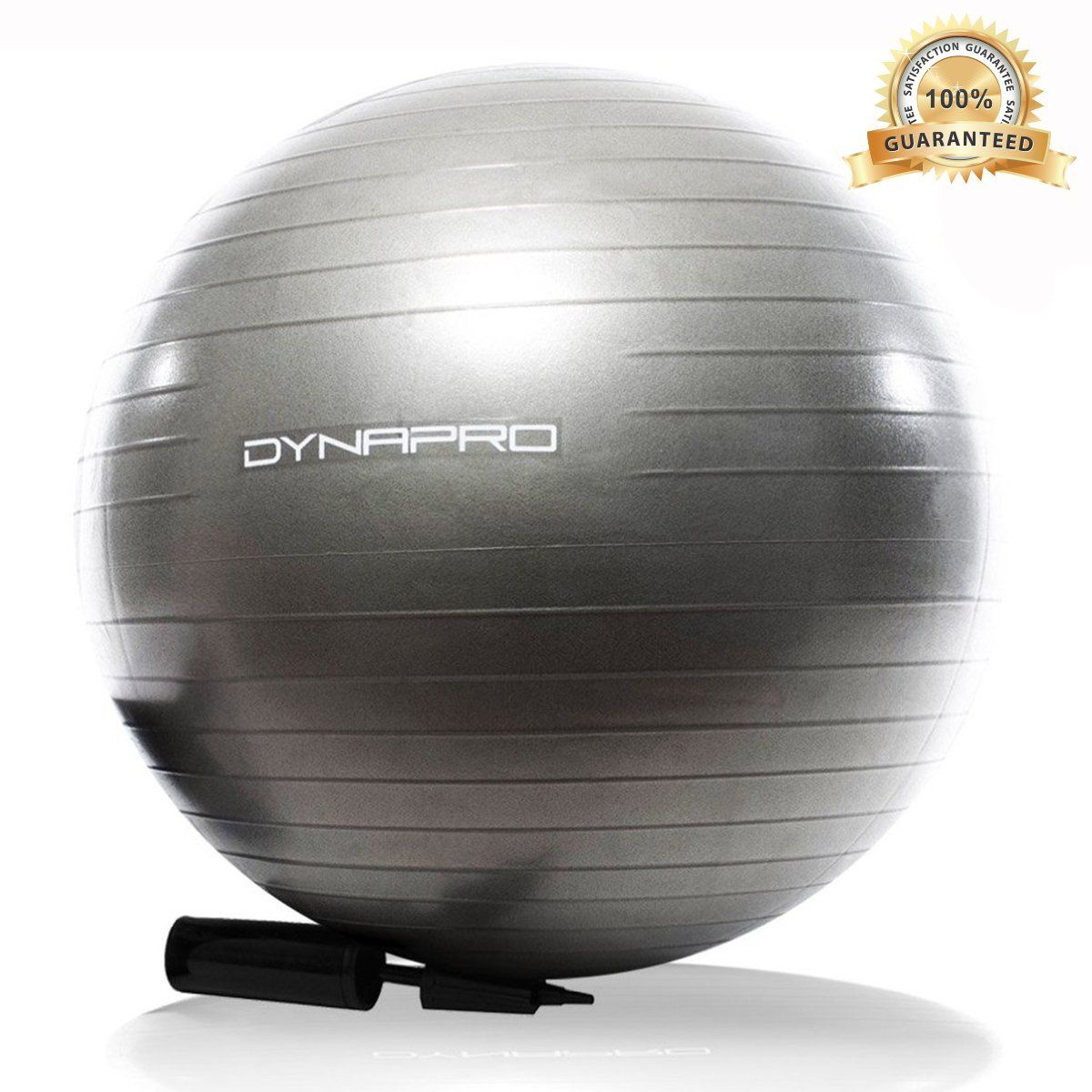 Silver Exercise Ball, GYM QUALITY by DynaPro