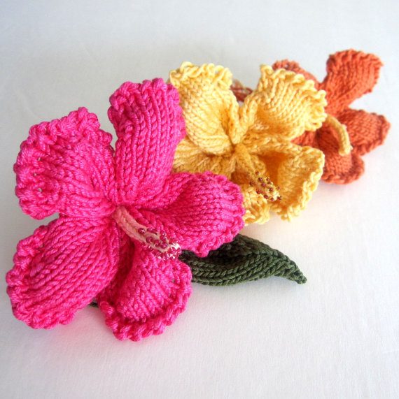 Aloha! Knit your own fantastic 3 dimensional tropical flower using ...