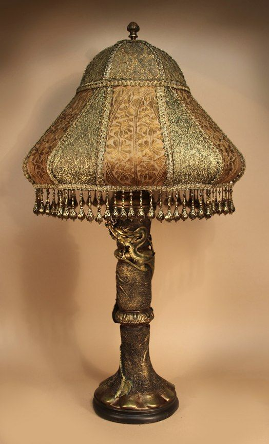 Antique table lamp with victorian lamp shade ideas for the house fully restored antique table lamps and lighting from kathleen caids antique artistry old fashioned lamps and lampshades aloadofball Image collections