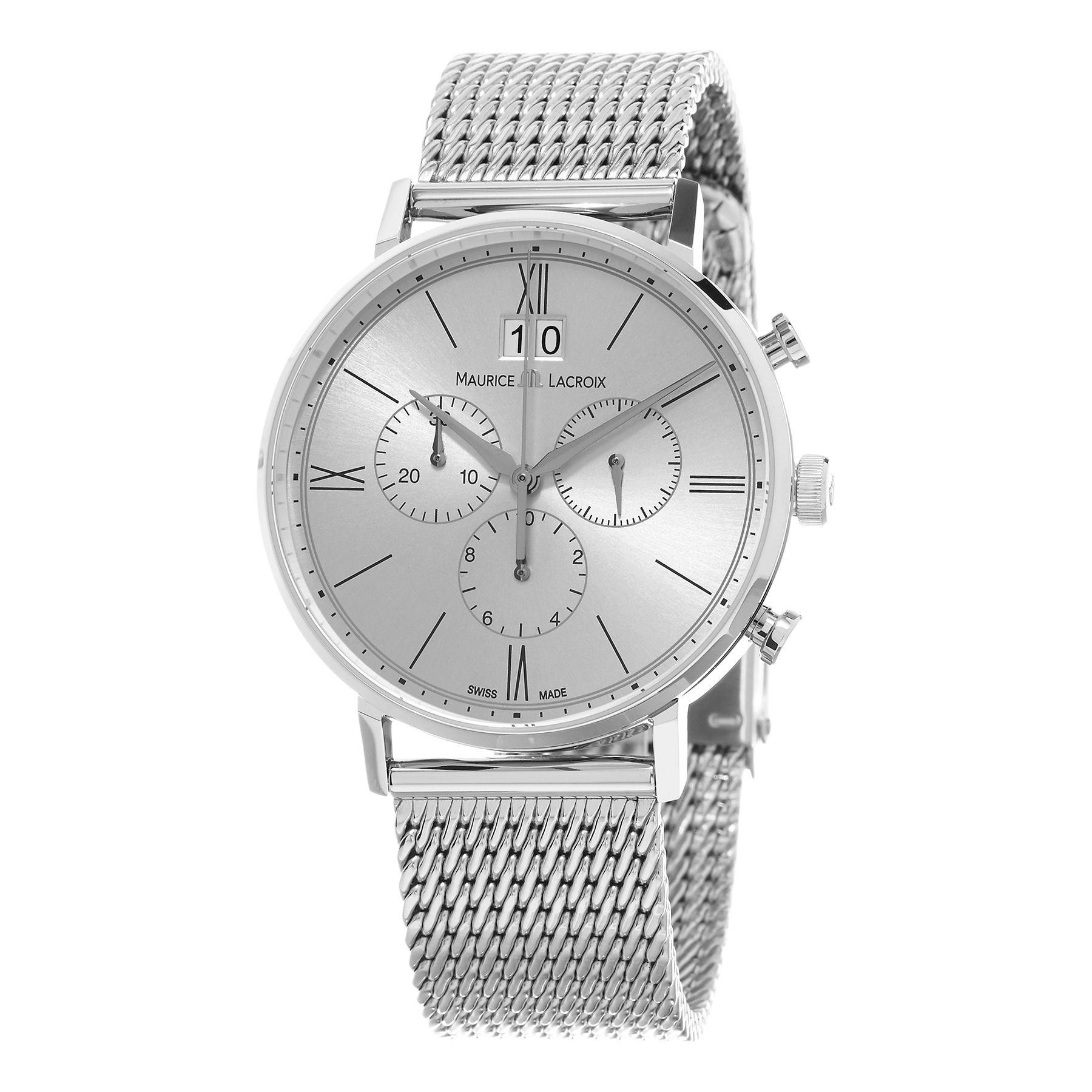 Maurice Lacroix Men's EL1088-SS002-111 'Eliros' Dial Mesh Chronograph Swiss Quartz Watch