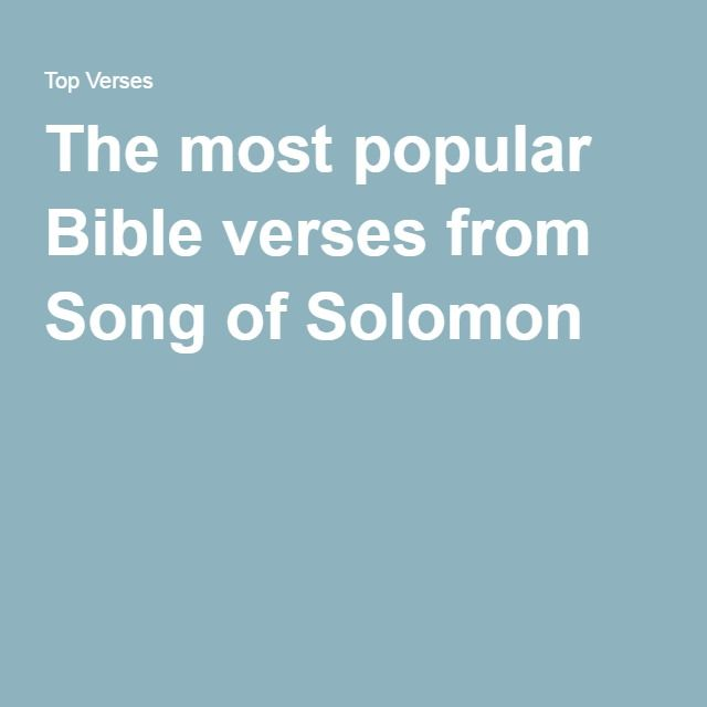 song of solomon message bible