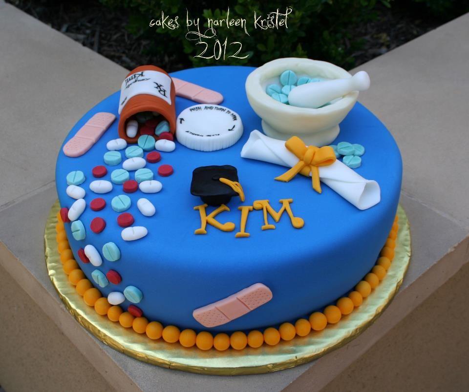 Pin By Jesica A On Work Graduation Cakes Pharmacy Cake Cake